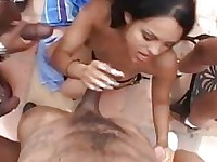 Victoria Sweet fuck in the mouth by horny gang