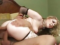 Sexy wild Haley Scott feels the hard poles fucking her holes at the same time