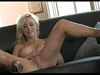 Lovely khot nympho Kayden Kross gently touches her twat and arouses herself