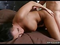 Filthy naked Dylan Ryder getting screwed deep by her boyfriend from behind