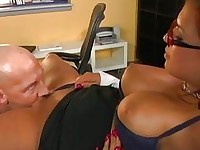 Busty pornstar Eva Angelina gets her juicy slit licked and sucks a meaty cock
