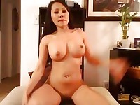 Busty Asian Hottie Plays her Juicy Tight Pussy HD