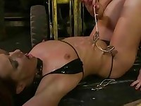 Kathia Nobili punishing Andy Brown
