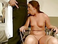 Nasty redhead gets bondaged and punished