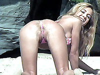Bent Over Bung Hole Thong