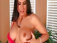 Ive Sexy Busty Brunette Model At Jerk Off Instructions