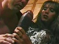 Angela de angelo fucked bisexual with enormous strapon