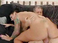 Busty Brunette Rides A Married Mans Cock