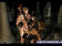 Muscular anime gay gets hot fucked