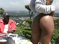 Chocolate girl ass fucked