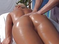Teen with small tits gets hardcore sex in massage salon