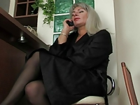 Russian milf and mature in stockings and boys