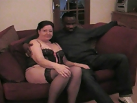 My wife is fucked on the floor and sofa by black bull