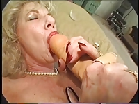Hairy Granny Loves Dildo and Bbc