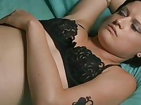 Annika Shoves Her Hubbys Mouth on that Black Cock