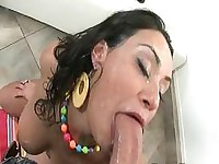 Awesome boddy Charlie gets a nice cum massage then gets a fat splat to the face