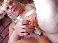 Chubby Cougar gets fucked