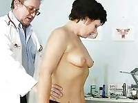 Mature woman Eva visits gyno doctor to get gyno ex
