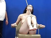 Whipped Feet of Tied up Amateur Slavegirl Beauvoir