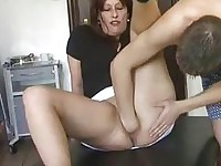 Extreme slut fisted and pissed in her huge cunt