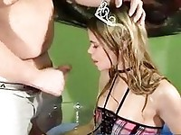 Blonde princess takes piss shower
