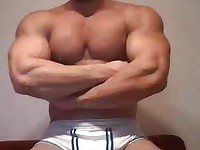 Body Builder Jacking his Hard Dick