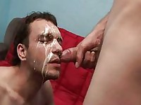 Jizzed All Over Face