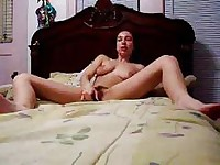 a woman playing with a sextoy