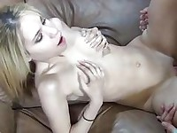 Mae Olsen petite blonde fucked hard by a huge cock
