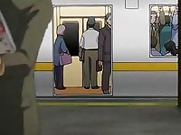 Horny chick let stranger fucks her in train