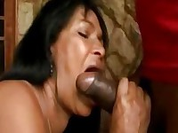Brazilian milf hot booty and sucking on large cock