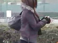 Sharking public violations of japanese girls in park  free