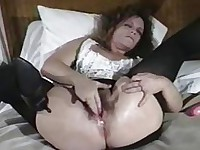 Hairy Cunt Slut Gets Her Ass Fucked