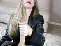 Milf Sara James Give Hand Job to Big Cock