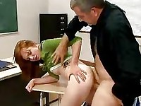 Sexy hot student Beaue Marie getting pounded on her sugary sweet pussy behind