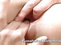 Big dildo masturbation