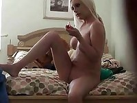 Teen has fun sucking and riding