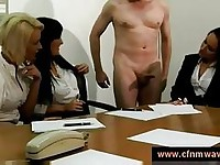 Handjob from the secretaries