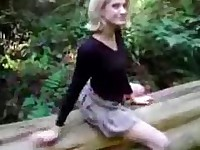 Pure dee  forest masturbation