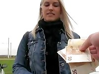 Superb Czech girl paid for having sex