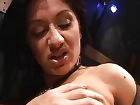 Busty hottie in Amsterdam fucks for cash
