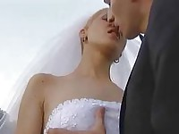 Sweet Bride Gives her Man A Blowjob Before The Wedding