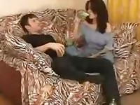 Drunk GermanTeen Brunette seduced by Older Brother