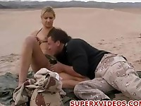 Ashley Long having good sex at the desert