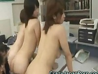Crazy Japanese Office Orgy