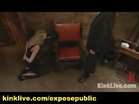Master Submissing His Slave with Dildo and Sybian in Live Show