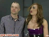 Ts Dom Venus Marks her Man and Shoves Her Dick