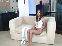 Linia, asian teen fingers herself ( high heels )