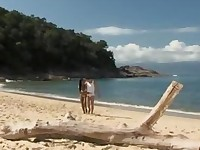 Beautiful Big Boobs Shaved Latina Babe Has Sex On The Beach Outdoor