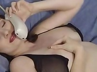 Kathryns phonesex and toying action